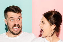 Attractive Angry Couple Fighti...