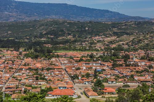 Keuken foto achterwand Zuid-Amerika land Villa de Leyva skyline cityscape Boyaca in Colombia South America