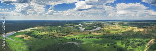 Panorama rzeki Bug w okolicach Szumina / Wyszkowa - fototapety na wymiar
