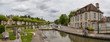 canvas print picture - French canal and lock system in the Loire Valley, France