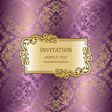 Elegant Invitation Cards. Vect...