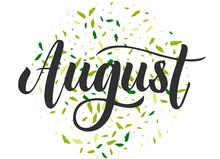 August Hand Drawn Lettering.