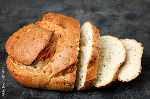 Foto op Aluminium Brood Sliced white bread