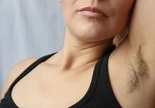 Woman With Armpit Hair, Hair G...