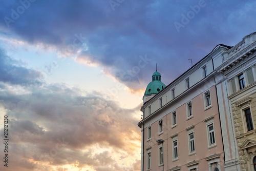 Foto op Aluminium Oude gebouw Sonnenuntergang in Split - Kroatien - Balkan