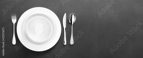 Obraz na plátně clean dinner ware