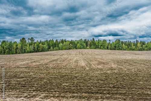 Láminas  agricultural ploughed field and soil rural countryside view