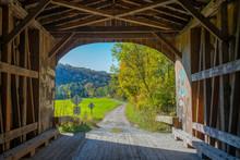 Inside A Covered Bridge, VT