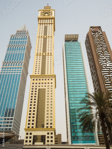 Photo  Skyscrapers on Sheikh Zayed Road in Dubai.