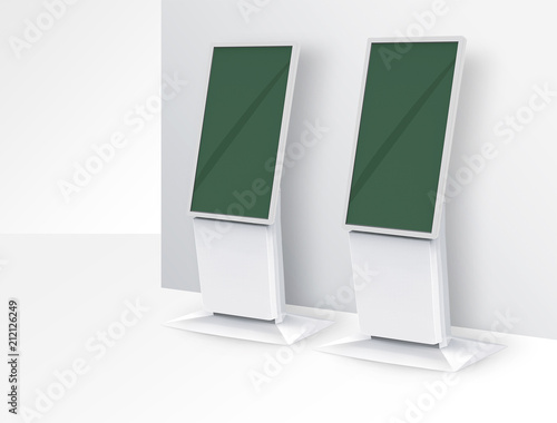 Valokuva  self serve kiosks with large display airport, Convention, hotel, and tradeshow i