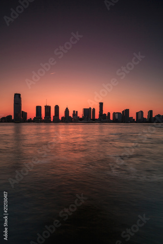Juliste  Jersey city view from Hudson river at sunset