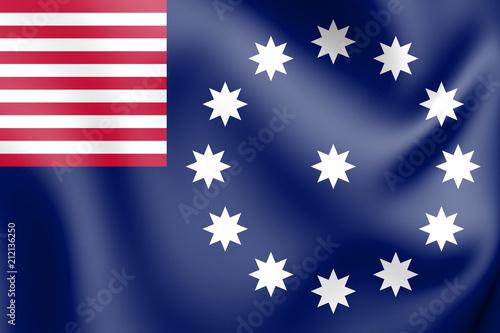 Fotografie, Obraz  3D Flag of Easton (Pennsylvania), USA.