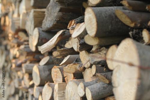 Obraz Poukładany skład  drewno  - fototapety do salonu