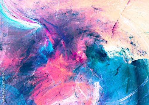 Cold Multicolor Beautiful Futuristic Pattern Abstract