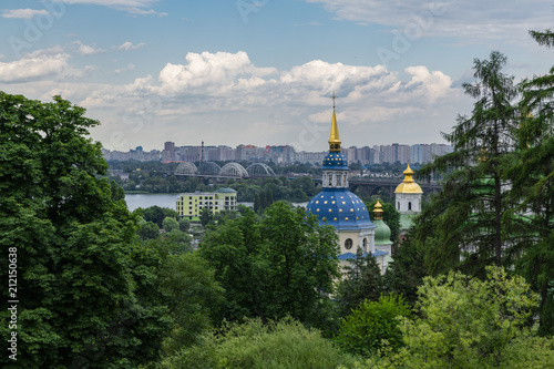 Spoed Foto op Canvas Kiev Monastery in the botanical garden of Kiev Ukraine