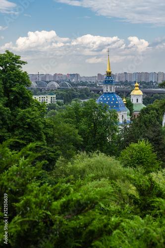 Foto op Plexiglas Kiev Monastery in the botanical garden of Kiev Ukraine