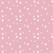 Vector Seamless Hand Drawn Star Pattern in Pink
