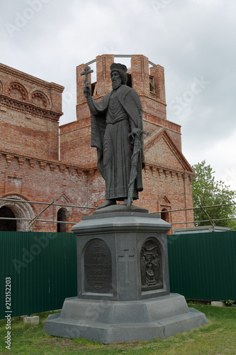Poster Monument VLADIMIR, RUSSIA - MAY 19, 2018: Monument to the Baptist of Russia, Prince Vladimir. Opened in 2015. Sculptors Peter Panchenko and Alexey Krainov