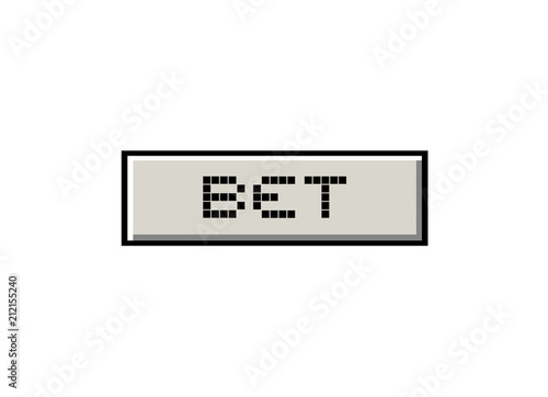Fotografía  button with bet message