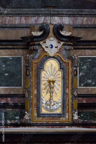 Tuinposter Pavia, Italy. 13 February 2017. The tabernacle with the Eucharist in the Duomo di Pavia (Pavia Cathedral).