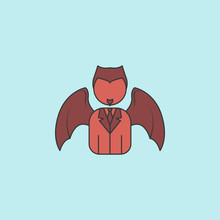 Demon Business Man  Icon. Element Of Angel And Demon Icon For Mobile Concept And Web Apps. Filled Outline Demon Business Man  Icon Can Be Used For Web And Mobile
