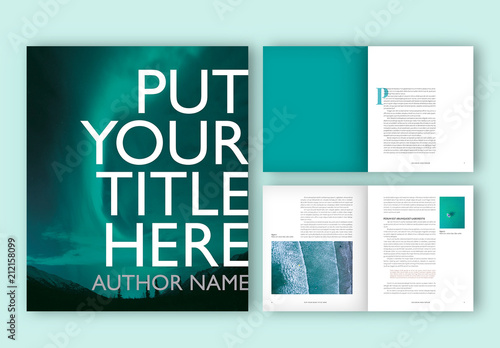 Book layout with turquoise accents buy this stock template and book layout with turquoise accents maxwellsz