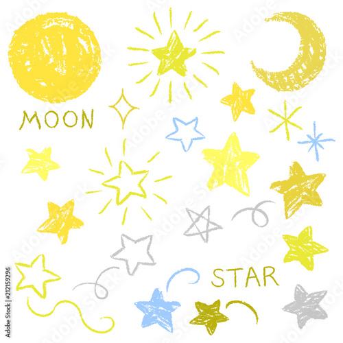 月 星 手描き風