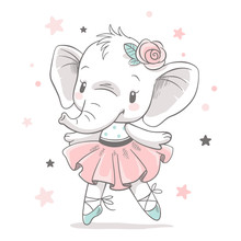 Vector Illustration Of A Cute ...