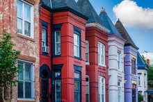 Colorful Row Houses In Shaw, W...