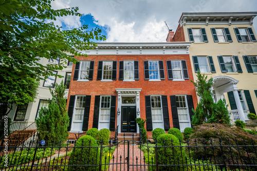 Awe Inspiring Row Houses In Georgetown Washington Dc Buy This Stock Download Free Architecture Designs Boapuretrmadebymaigaardcom