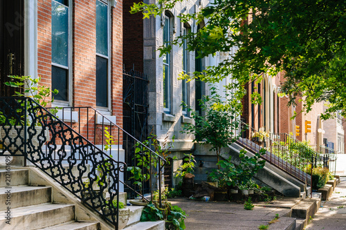 Fotomural  Row houses in Spring Garden, Philadelphia, Pennsylvania