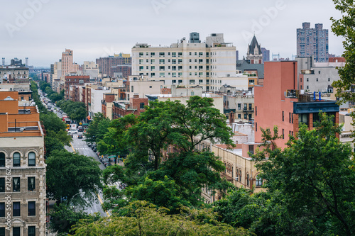 Fototapeta View of Harlem from Morningside Heights, in Manhattan, New York City. obraz