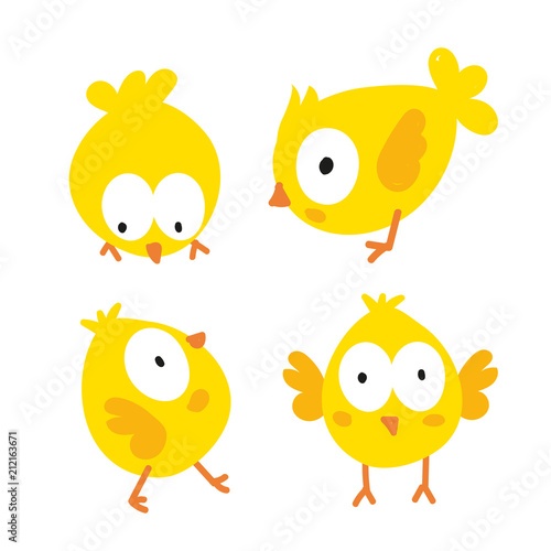 Fotografija chick character vector design