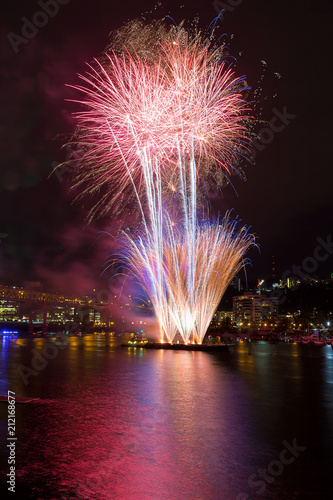 Fotografía  Portland Oregon 4th of July Fireworks downtown