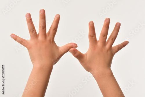 Fotografia  上に挙げた両手