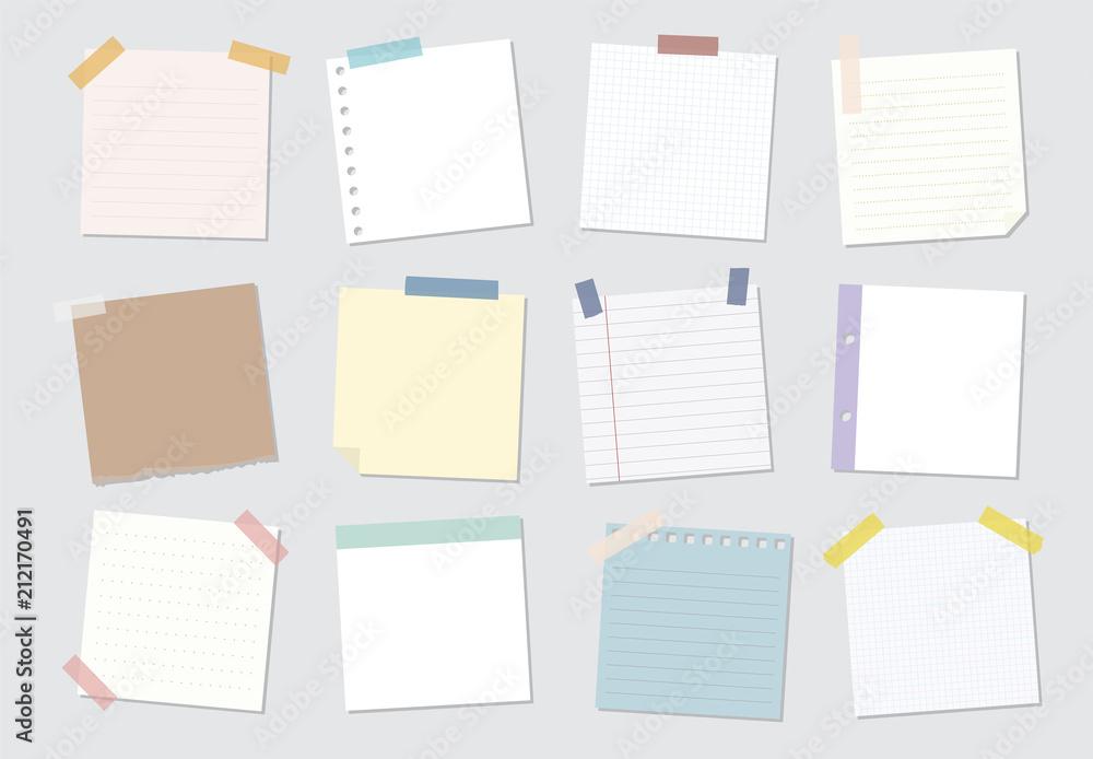 Fototapety, obrazy: Collection of sticky note illustrations