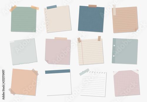 Fototapeta Collection of sticky note illustrations obraz