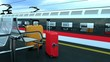 Travel baggage in railway station. Consept of Tourism, Travel, Trip, Tour