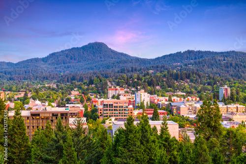 Fototapeta Eugene, Oregon, USA Skyline obraz