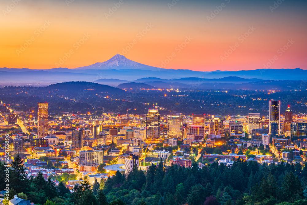 Fototapety, obrazy: Portland, Oregon, USA Skyline
