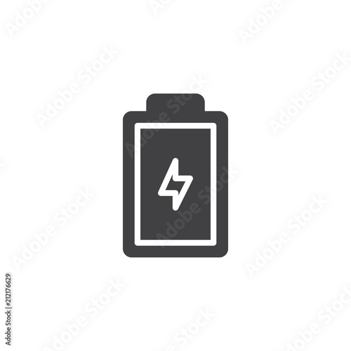 Battery status vector icon  filled flat sign for mobile