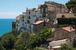 Veduta panoramica di Sperlonga sul mar Tirreno in Lazio