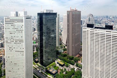Poster Stad gebouw Aerial view of Shinjuku inTokyo