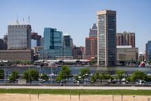 Baltimore Maryland Patapsco River Inner Harbor Panoramic View Of Downtown Skyline