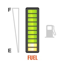 Fuel Gauge In Tank Of Car Icon...