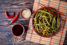 Stir-fried Green Beans On A  B...