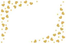 Gold Glitter Heart Frame Paper...