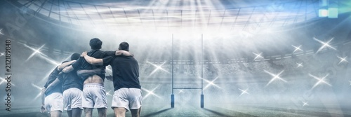 Fotografie, Obraz  Composite image of rugby pitch