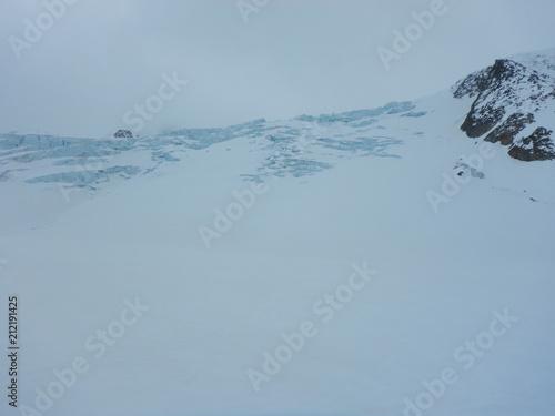 crevasses and seracs on a glacier Canvas-taulu