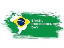 Happy Brazil Independence Day National Flag Of Brazil Background Vector Illustration